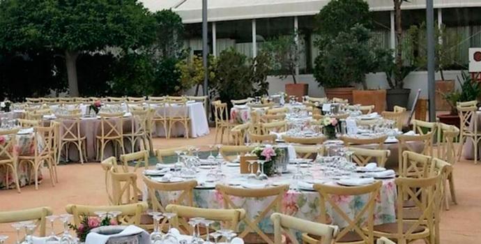Instalaciones de La Riera Eventos donde se celebra la Semana Gastronómica.