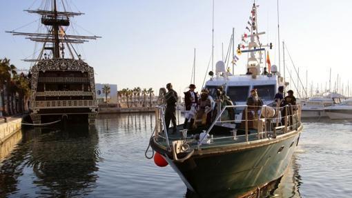 Desembarco de los Reyes Magos en el puerto de Alicante